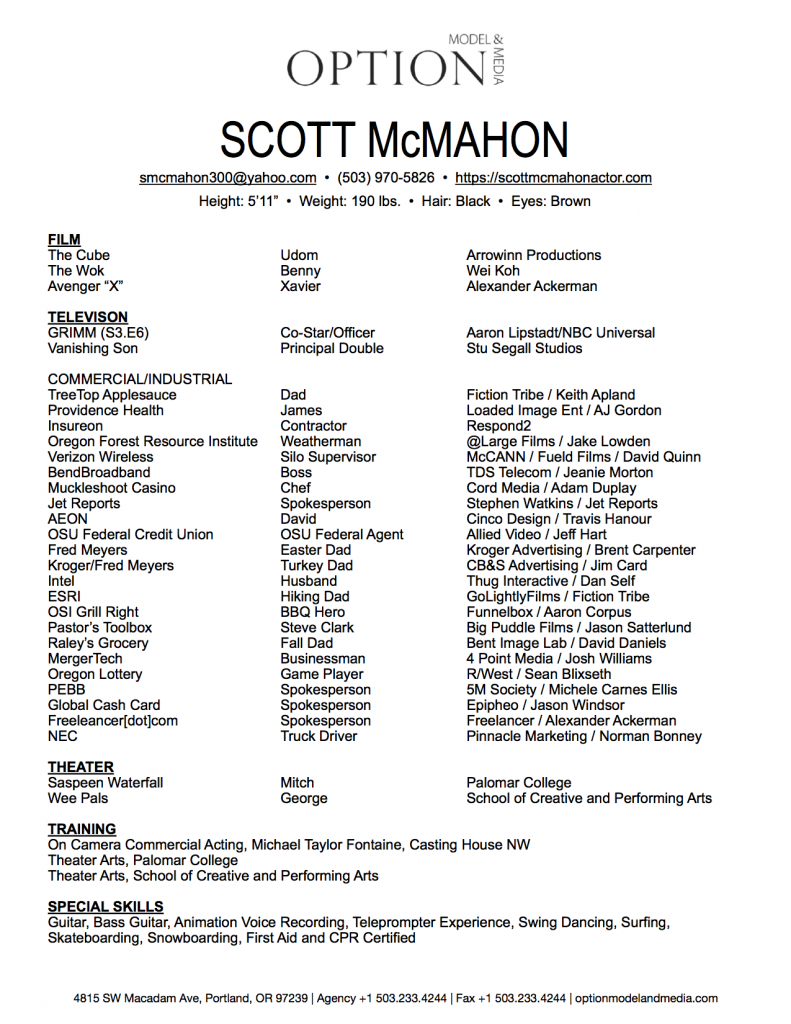 Charming Actor Resume Ideas - Professional Resume Example Ideas ...